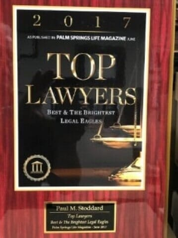 2017 Top Lawyers Award for Attorney Paul M. Stoddard